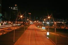 Panama van stad bij nacht Royalty-vrije Stock Afbeelding