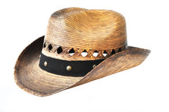 Panama Wicker straw hat Royalty Free Stock Images