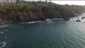 Panama wybrzeże z widok na ocean zbiory