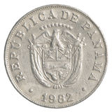 5 panamaische centimonos Münze Stockbild
