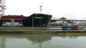 Panamakanalverschlüsse, Fracht, Versand, Transport stock video