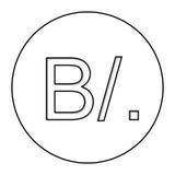 Panamanian balboa currency symbol icon Stock Image
