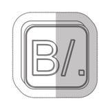 Panamanian balboa currency symbol icon Stock Photo