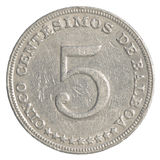 5 Panamanian centimonos coin Royalty Free Stock Image