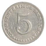 5 Panamanian centimonos moneta Obraz Royalty Free