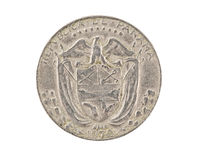 Panamanian coin isolated Royalty Free Stock Images