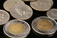 Panamanian Coins Royalty Free Stock Photo