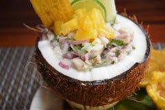 Panamanian de fruits de mer avec des Cocos Photo libre de droits