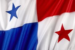 Panamanian flag Royalty Free Stock Photos