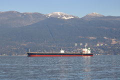 Panamanian Freighter Da Ying in Vancouver Royalty Free Stock Photo