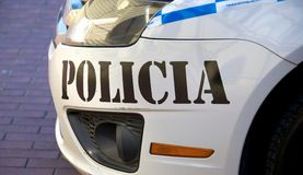 Panamanian Police Car Royalty Free Stock Photography