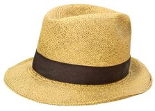 Panamanian straw hat stock photo