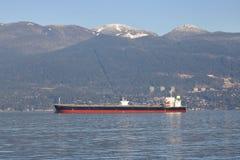 Panamansk fraktbåt Da Ying i Vancouver Royaltyfri Foto