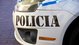 Panamansk polisbil Royaltyfri Fotografi