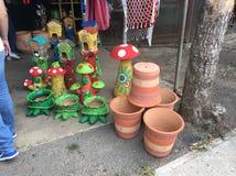 Panamenian kolonisty ceramika obraz stock