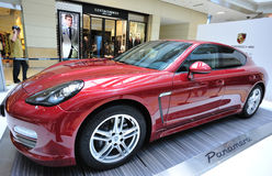Panamera show in shopping mall Royalty Free Stock Photo