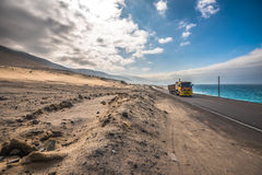 Panamericana road with Pacific ocean on the right Stock Photography