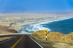 Panamerikaanse Weg, Peru Royalty-vrije Stock Afbeeldingen