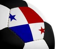 Panamese Vlag - Voetbal Stock Afbeeldingen