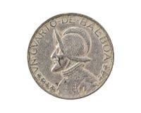 Panamesische Münze getrennt Stockfoto