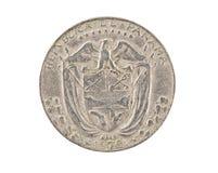 Panamesische Münze getrennt Lizenzfreie Stockbilder
