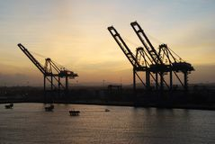 Panamian Port Royalty Free Stock Images