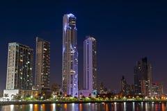 Panamska miasto linia horyzontu Zdjęcia Royalty Free