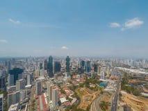 Panamska miasto linii horyzontu antena - nowożytny drapacza chmur pejzaż miejski Zdjęcie Royalty Free