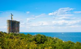 Panamska miasto plaży woda, ocean, usa, brzeg, dużo Obrazy Stock