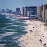 Panamska miasto plaży zatoka meksykańska blisko zmierzchu malowniczego zdjęcia royalty free