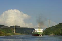 Panamski kanał Zdjęcie Royalty Free
