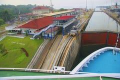 Panamski kanał Zdjęcia Royalty Free