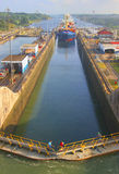 Panamski kanał Fotografia Royalty Free