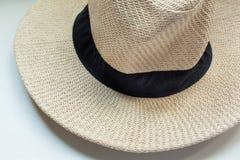 Panamski kapelusz na białym tle obrazy royalty free