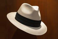Panamski kapelusz w Cuenca, Ekwador fotografia royalty free