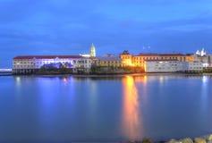 Panamski miasto, Casco Viejo w zmierzchu zdjęcia royalty free
