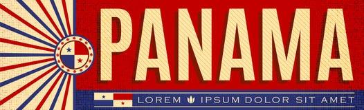 Panamski patriotyczny sztandaru projekt, typograficzna wektorowa ilustracja, Panamanians flaga barwi ilustracji