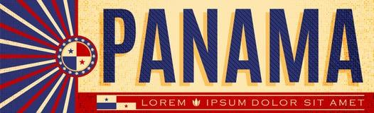 Panamski patriotyczny sztandaru projekt, typograficzna wektorowa ilustracja, Panamanians flaga barwi ilustracja wektor