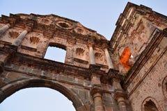 Panamski Stary Grodzki casco Viejo w Panamà ¡ przy nocą obraz royalty free