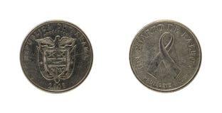 Panamskie monety Fotografia Royalty Free