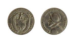 Panamskie monety Obrazy Stock