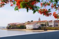 Panamskiego miasto widoku casco viejo stary antiguo Zdjęcie Stock