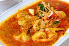 Panang curry med räka Fotografering för Bildbyråer