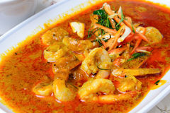 Panang-Curry mit Garnele Stockbild