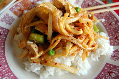 Panang Curry-Teller Stockbilder