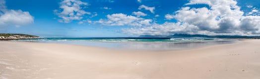 Panarama of a beach Stock Photos