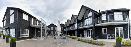 Panarama of black hotel Denmark Royalty Free Stock Photo