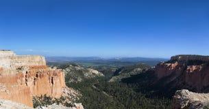 Panarama de canyon de Brice Image stock