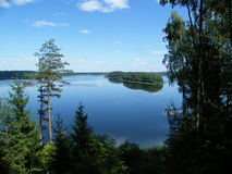 Panarama del lago Sapsho Immagini Stock