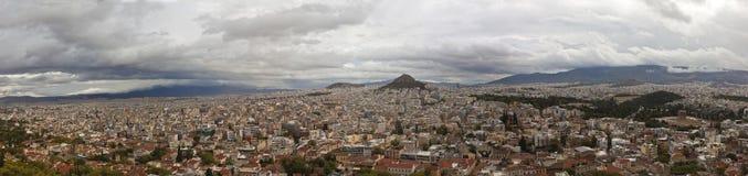 Panarama di Atene dall'acropoli Fotografia Stock Libera da Diritti